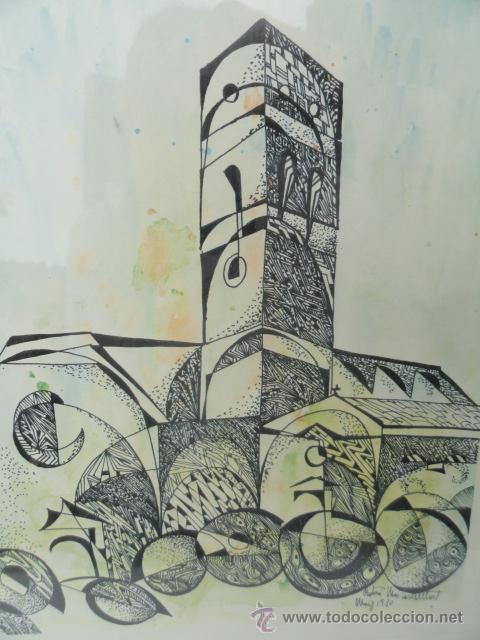 Arte: LITOGRAFÍA ENMARCADA ANTONI MAS CASTELLOT, MAYO 1980. NUMERADA Y FIRMADA. - Foto 2 - 37552771