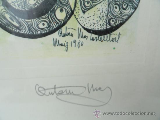 Arte: LITOGRAFÍA ENMARCADA ANTONI MAS CASTELLOT, MAYO 1980. NUMERADA Y FIRMADA. - Foto 3 - 37552771