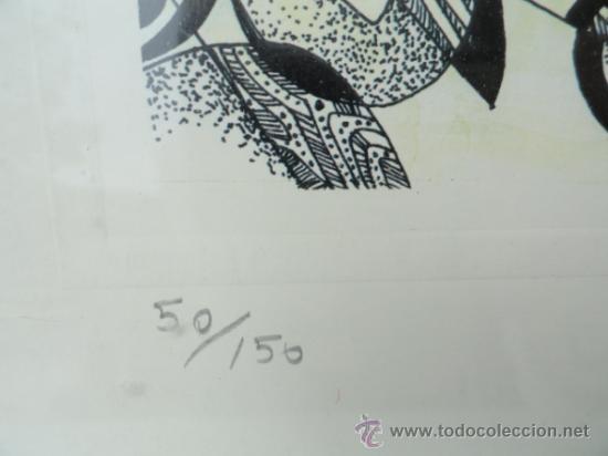 Arte: LITOGRAFÍA ENMARCADA ANTONI MAS CASTELLOT, MAYO 1980. NUMERADA Y FIRMADA. - Foto 4 - 37552771