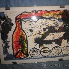 Arte: LITOGRAFIA DE GUINOVART - AÑO 1988 - NUMERADA Y FIRMADA POR EL AUTOR.. Lote 37947239