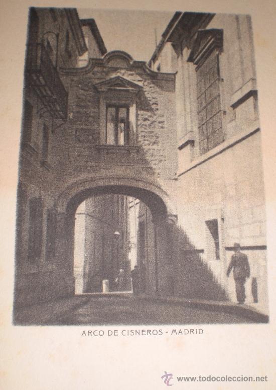 Arte: Pareja de 2 mini litografía - grabado de Madrid. Arco de Cisneros y Museo del Prado Siglo XVIII. - Foto 3 - 38508961