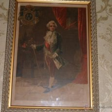 Arte: LUIS XV JOVEN. ANTIGUA LITOGRAFIA, IMPRESA POR FELIPE GONZALEZ ROJAS. S. 19 - P. 20. Lote 39845676