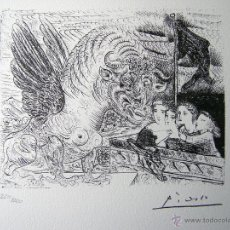 Arte: PICASSO, P. (1881-1973). ILUSTRACION PARA SUITE VOLLARD. NUMERADA 220/1200. 1973. Lote 39907185