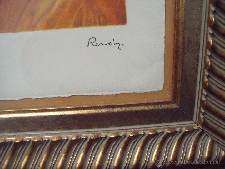 Arte: RENOIR.-MUCHACHA CON SOMBRERO.-LITOGRAFIA ENMARCADA.-FIRMADA EN PLANCHA Y NUMERADA A MANO 160/250. - Foto 6 - 40177398