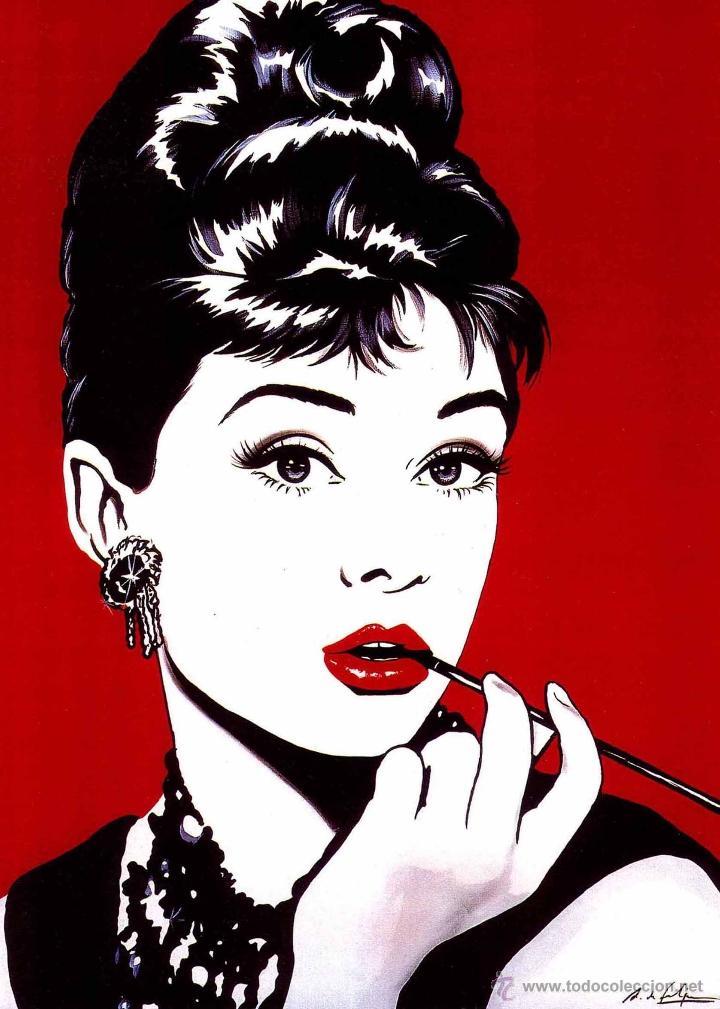 cuadro comic pop art de 70x50 cm.: audrey hepbu - Comprar ...