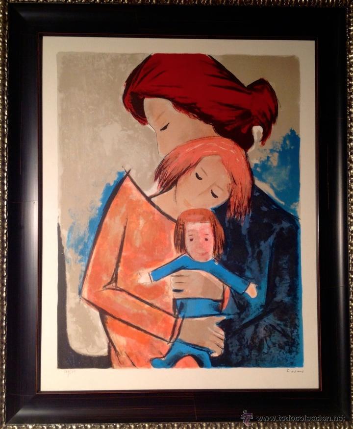 Arte: Cuadro De Jesús Casaus Maternidad Original Firmada ( Barcelona, 1926 - Barcelona, 2002 ). - Foto 2 - 40483565