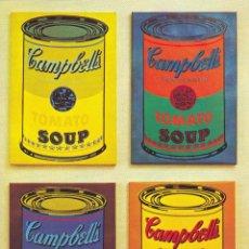 Arte: WARHOL, SOPAS CAMPBELLS. CUADRO REPRODUCCIÓN DE 70X50 CM. Lote 40839520