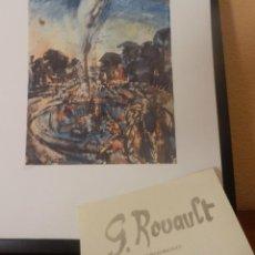 Arte: BONITA LITOGRAFIA DE GEORGES ROUAULT LA FUENTE EN EL PARQUE DE VERSALLES AÑOS 80 CON CERTIFICADO. Lote 40858443