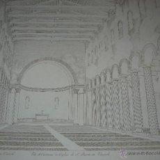 Arte: S.XIX - GRABADO LITOGRAFICO ORIGINAL - VISTA INTERIOR DE LA IGLESIA SAN PEDRO IN VINCOLI. Lote 41043775