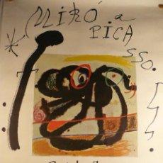 Arte: CARTEL DE LA EXPOSICION DE PICASSO Y MIRO EN LA SALA GASPAR. Lote 41072779