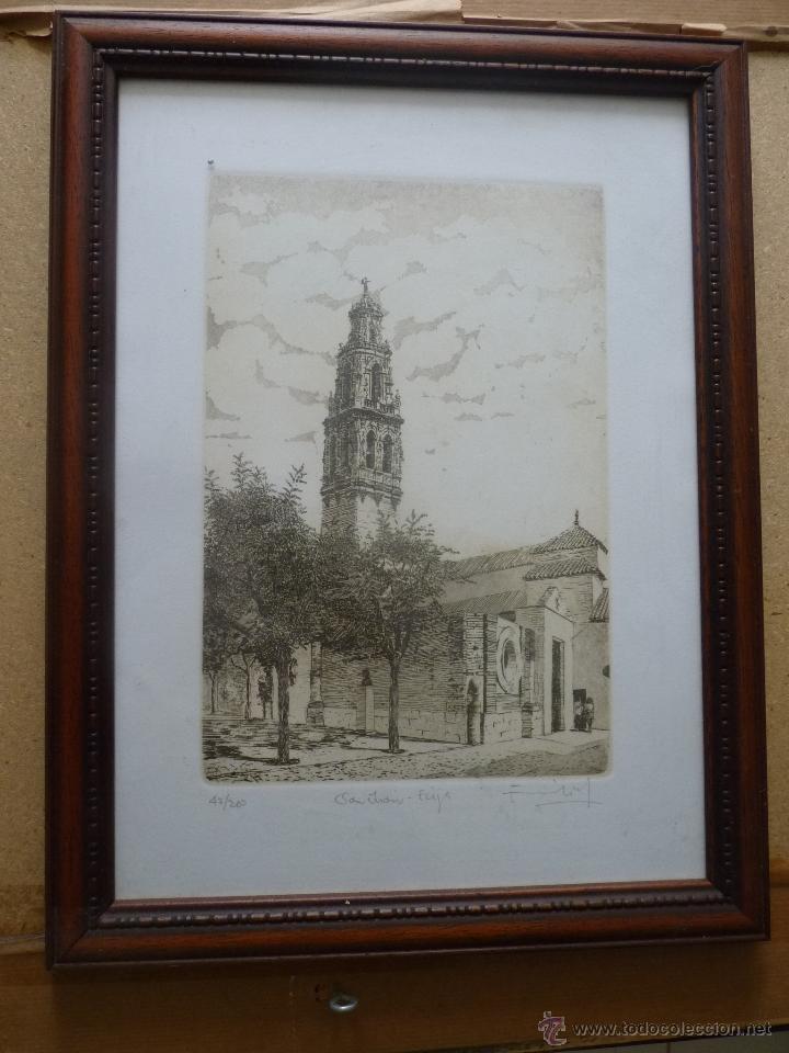 BONITO GRABADO TORRE SE SAN JUAN, ÉCIJA, NUMERADA (Arte - Litografías)