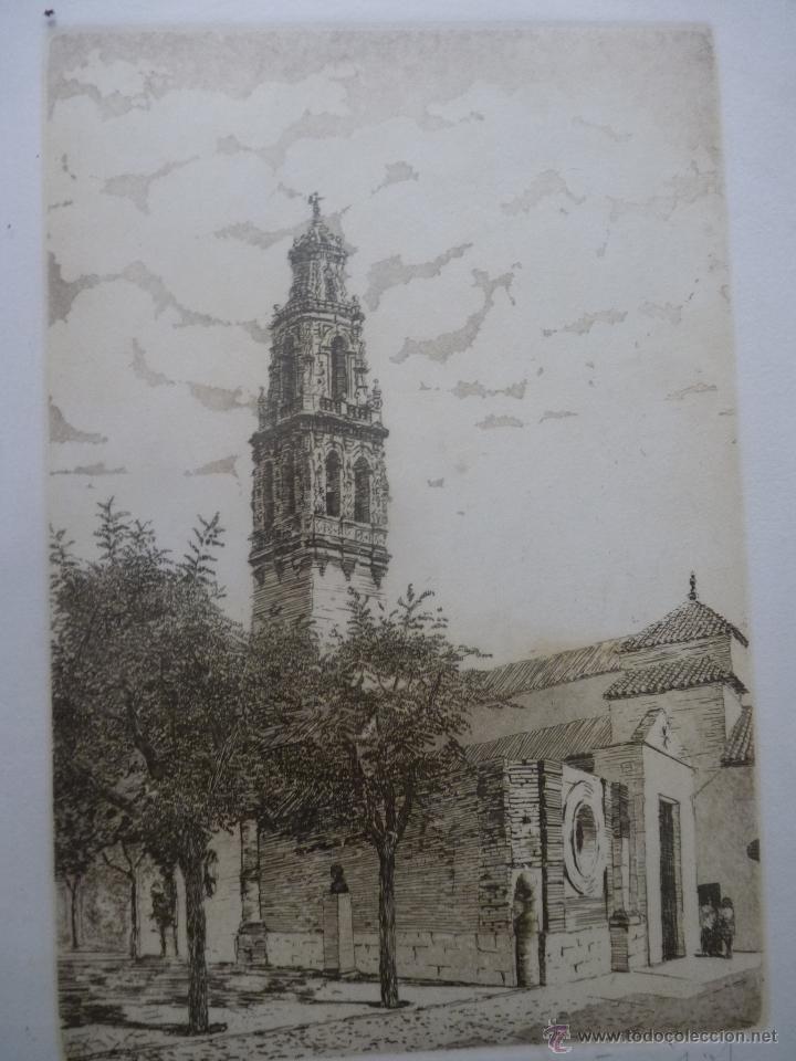Arte: BONITO GRABADO TORRE SE SAN JUAN, ÉCIJA, NUMERADA - Foto 4 - 41073228