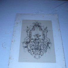 Arte: GRABADO LITOGRAFICO ORIGINAL - ADORNOS DEL SIGLO XIX. Lote 203045320