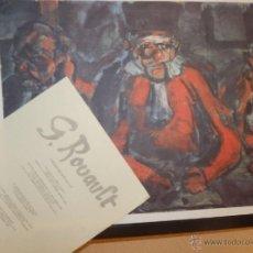 Arte: BONITA LITOGRAFIA DE GEORGES ROUAULT LOS JUECES AÑOS 80 CON CERTIFICADO EDICION LIMITADA INCLUIDO. Lote 41461725