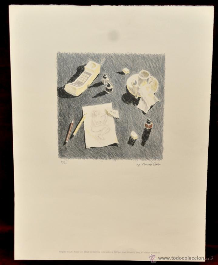 LITOGRAFÍA ORIGINAL DE JULIET POMES LEIZ. TIRAJE 67/90. AÑO 1989 (Arte - Litografías)