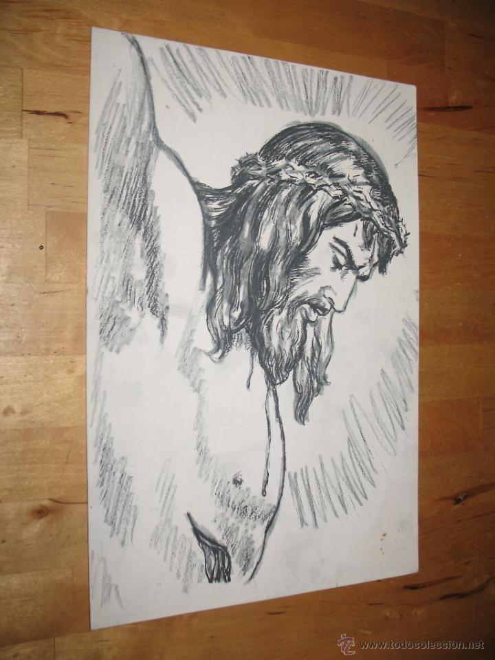 litografía jesucristo jesús colgado madero de t - Comprar ...