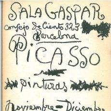 Arte: PICASSO CATÁLOGO EXPOSICIÓN, LITOGRAFÍA ORIGINAL EN CUBIERTA 1960 SALA GASPAR CRAMER 109 BLOCH 1841. Lote 42268838