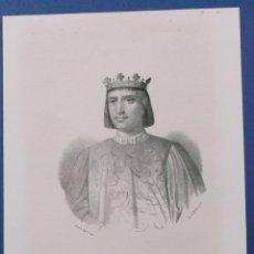 Arte: LITOGRAFÍA DEL SIGLO XIX. ENRIQUE IV DE CASTILLA. 31 X 21 CM.. Lote 42351176