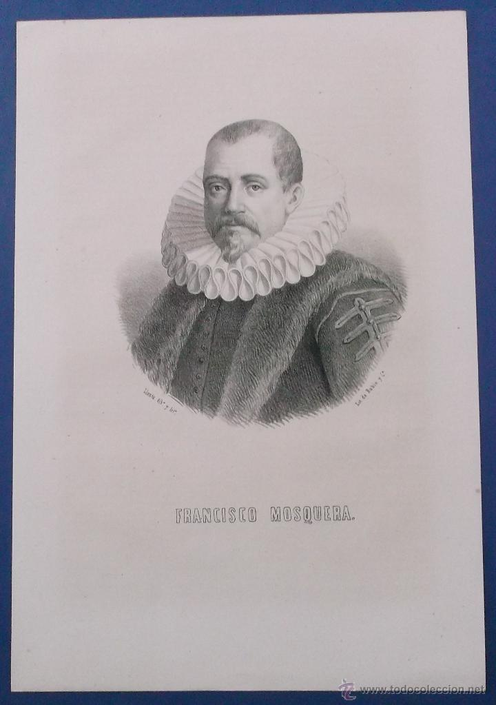 LITOGRAFÍA DEL SIGLO XIX. FRANCISCO MOSQUERA. 31 X 21 CM. (Arte - Litografías)