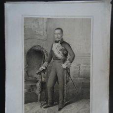 Arte: LITOGRAFIA 45X32CM. 'JOAQUIN BAYONA'(AOIZ (NAVARRA) CAPITAN GENERAL DE GALICIA.1851. Lote 42864068