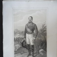 Arte: LITOGRAFIA 45X32CM. 'RAFAEL DE LEON' GENERAL 2º CABO DE VALENCIA.. Lote 42864168