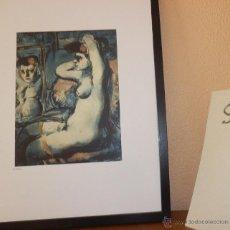 Arte: BONITA LITOGRAFIA DE GEORGES ROUAULT ANTE EL ESPEJO AÑOS 80 CERTIFICADO EDICION LIMITADA. Lote 41461783