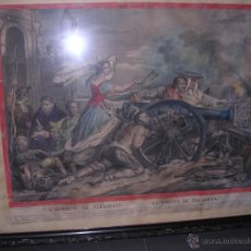 Arte: ARAGON - GUERRA DEL FRANCES LITOGRAFIA COLOREADA DE EPOCA AGUSTINA DE ARAGON LA HEROICA DE ZARAGOZA . Lote 43205332