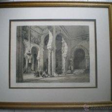 Arte: LITOGRAFIA ENMARCADA EN CRISTAL DE G P VILLA-AMIL PARROQUIA DE SAN ROMAN EN TOLEDO BAYOT. Lote 43223168