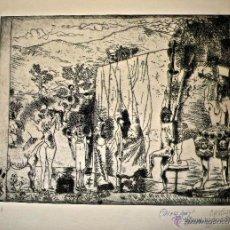 Arte: CASTILLO CASALDERREY SIN TITULO GRABADO SOBRE PAPEL GUARRO FILIGRANAS 1962. Lote 43560584