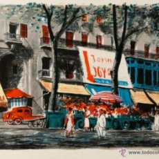Arte: LLOVERAS HERRERA, FREDERIC BARCELONA, 1912 LA CALLE 1997. LITOGRAFÍA. Lote 43560681