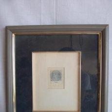 Arte: CUADRO LITOGRAFIA ORIGINAL FIRMADA HOROSCOPO LIBRA 33 CM X 29 CM. Lote 36333722