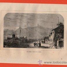 Arte: LITOGRAFIA/GRABADO - RIO JANEIRO - PASEO DE LA GLORIA - VIAJERO UNIVERSAL - AÑO 1861 - . Lote 43654652