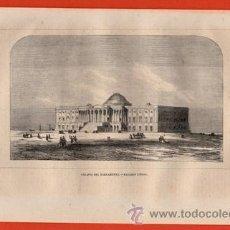 Arte: LITOGRAFIA/GRABADO - PALACIO DEL PARLAMENTO - ESTADOS UNIDOS - VIAJERO UNIVERSAL - AÑO 1861. Lote 43655066