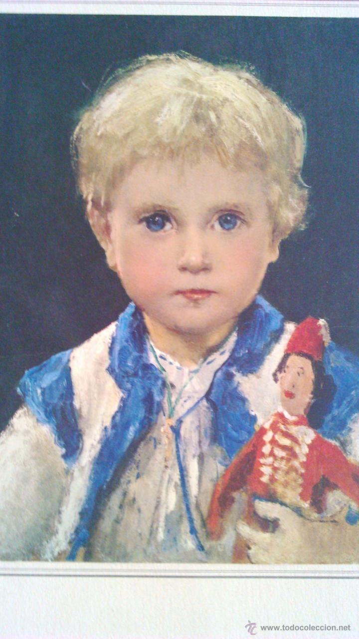 LITOGRAFÍA DE ALBERT ANKEL . MÄDCHEN MIT HAMPELMANN. EL ORIGINAL FUE PINTADO EN 1875. (Arte - Litografías)