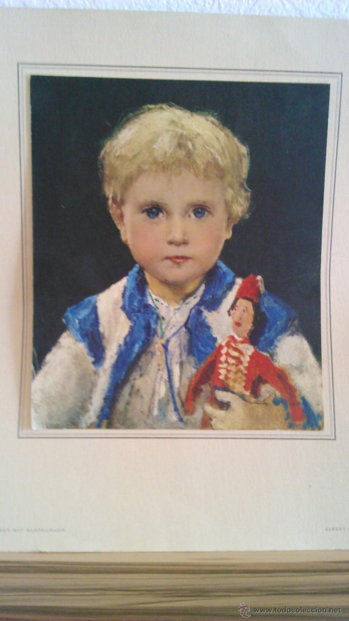 Arte: Litografía de Albert Ankel . MÄDCHEN MIT HAMPELMANN. El original fue pintado en 1875. - Foto 2 - 43716696