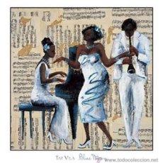 Arte: TAT VILÀ, SERIE JAZZ, LÁMINA 69 X 71, BLUE MOON. Lote 54784969