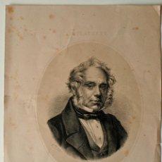Arte: LITOGRAFIA ORIGINAL SIGLO XIX, LORD PALMERSTON. Lote 43903554
