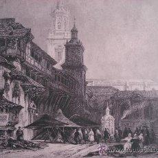 Arte: GREAT ESCUARE AT VITORIA - LITOGRAFIA - SIGLO XIX. Lote 44322966