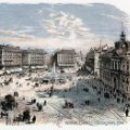 Arte: Madrid antiguo: 6 láminas facsímiles en color de lugares destacados del siglo XIX - Perfecto estado. Lote 44449019