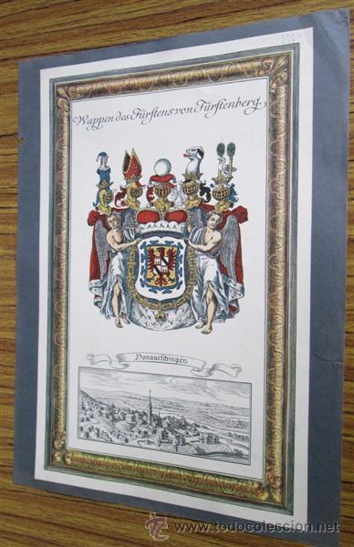 DONAUEFCHINGEN --- WAPPEN DES FÜRFTENS VON FÜRFTENBERG (Arte - Litografías)