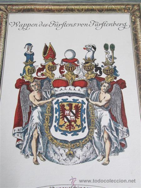 Arte: DONAUEFCHINGEN --- Wappen des Fürftens von Fürftenberg - Foto 2 - 45102458