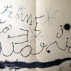 Arte: MIRO, J (1893-1983). LITOGRAFIA DOBLE PAGINA. 1965. . Lote 45230760