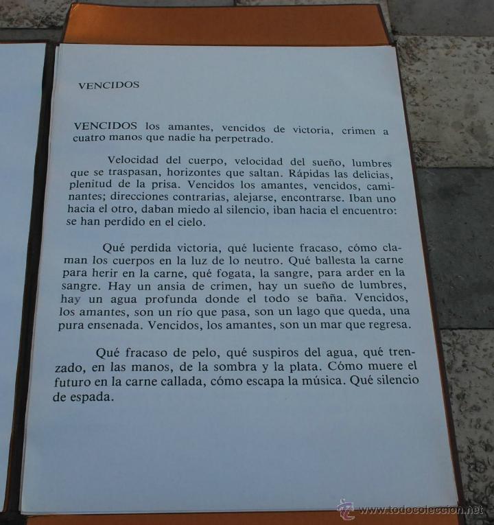 Arte: CARTEPA LITOGRAFIAS ORIGINALES FIRMADAS Y NUMERADAS V.LLORENS POY - Foto 3 - 45250041