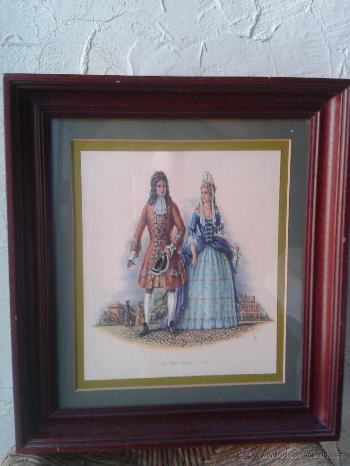 pareja cuadros con litografias personajes con t - Comprar ...