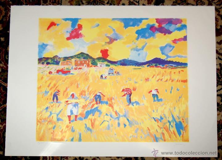 RAMÓN SANVISENS I MARFULL (BARCELONA, 1917-1987) LITOGRAFÍA FIRMADA POR EL ARTISTA. 55/225 (Arte - Litografías)