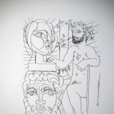 Arte: PICASSO, P. (1881-1973). ILUSTRACION PARA SUITE VOLLARD. NUMERADA 824/1200. FIRMA. Lote 221795225