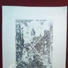 Arte: ANTIGUA LITOGRAFIA ALEMANA DE UN GRABADO DEL ARTISTA ALEMAN RUDOLF WARNECKE. Lote 46111362