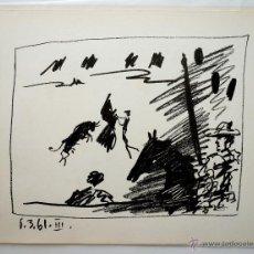 Arte: LITOGRAFÍA ORIGINAL PABLO RUIZ PICASSO - PASE DE CAPOTE, 6 MARZO 1961. MOURLOT 348, BLOCH 1015. Lote 46343029