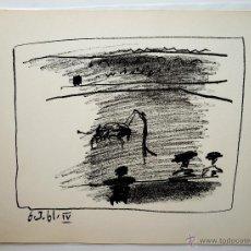 Arte: LITOGRAFÍA ORIGINAL PABLO RUIZ PICASSO - BANDERILLAS, 6 MARZO 1961. MOURLOT 349, BLOCH 1016. Lote 46343169