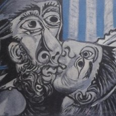 Arte: PICASSO THE KISS ( EL BESO ) COLLECTION DOMAINE PICASSO FIRMADA NUMERADA A LÁPIZ EJEMPLAR NÚM 52/500. Lote 46724806